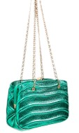 Zara Mini Crossbody Bag with Chain in Green, $40