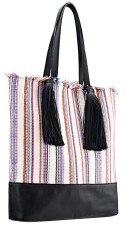 Cruise Tote in Basket weave, $395