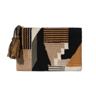 Wilfred Mod Tapestry Pouch in Black, $45