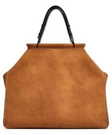 Zara Split Suede Tote Bag in Camel, $100